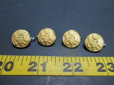 "Lot of 4 Gold Eagle Buttons Small Uniform 5/8"" Wheat Stars Chesire SKU A T"