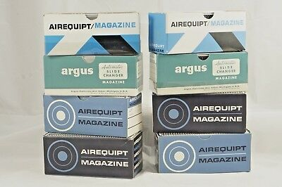 Lot of 8 Airequipt and Argus Automatic Slide Changer Magazines each holds 36