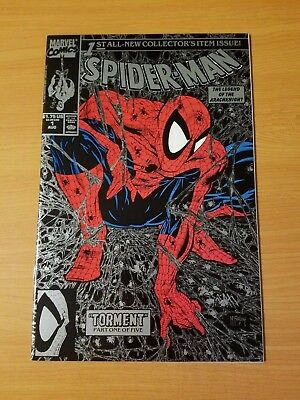 Spider-Man #1 Silver Variant ~ NEAR MINT NM ~ (1990, Marvel) Todd McFarlane