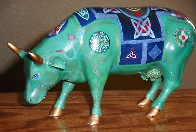 """2002 Cow Parade Item #7316 """"Celtic Cow"""" RETIRED"""