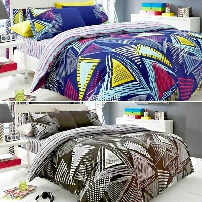 Pop Triangle Luxury Duvet Covers Quilt Covers Reversible Bedding Sets All Sizes