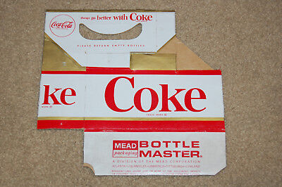 Coca Cola six pack carrier Red, Gold, and White, MEAD Packaging Bottle Master