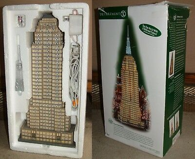 """Department 56 Empire State Building 2003 In Box 24"""" Christmas City Series 59207"""
