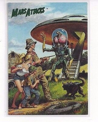 1994 Topps Mars Attacks Base Series #72 - The Comics Issue #1 Earl Norem Cover