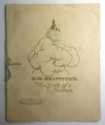 BIRTH OF A NATION 1915 SOUVENIR MOVIE PROGRAM ~ Ku Klux Klan ~ GISH Autographed!