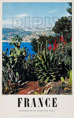 Repro Deco Affiche France Cote Azur Sud French South Mediterranee 190 Ou 310 Grs