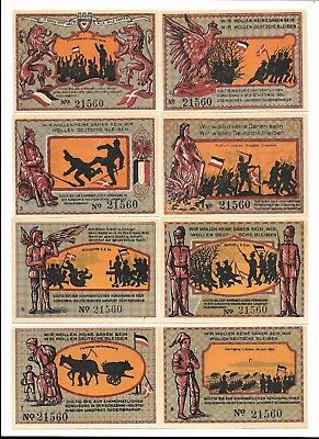 **Undated SUDERBRARUP Germany- 1864 BATTLE~ Complete Matching SERIAL Notgeld UNC