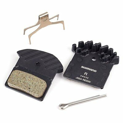 Shimano Disc Brake Pads Resin Ice-Tec J02A Finned XTR XT SLX Alfine