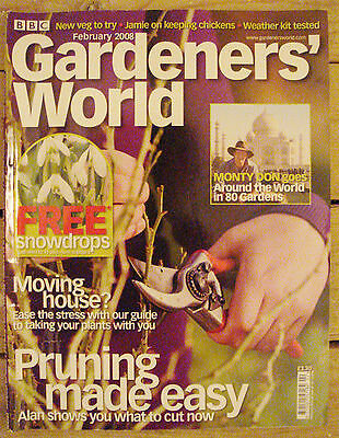 BBC - Gardeners' World,  February 2008 – Pruning / Chickens / Badgers / Shallots