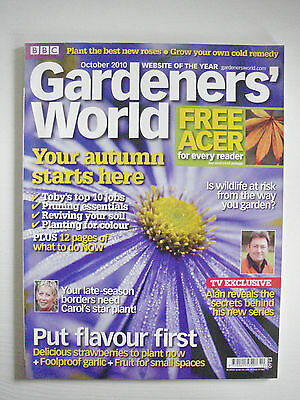 BBC - Gardeners' World, October 2010 – Asters / Strawberries / Wildlife At Risk
