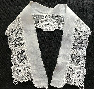 Adorable Antique Ayrshire Needlework Lace  White Collar,