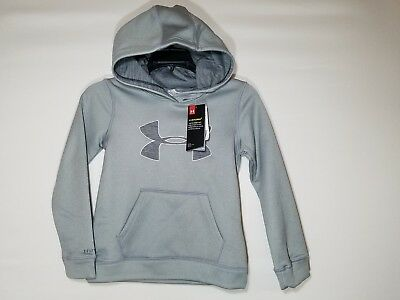 NWT Girl's Youth Gray Under Armour Coldgear Storm Hoodie S, M, L 1282104 $40