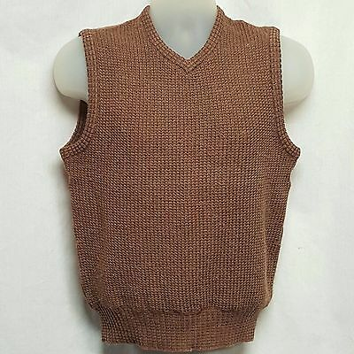 Vintage Gianfranco Ruffini Mens Pullover Sweater Vest 80% Wool SEE PHOTOS