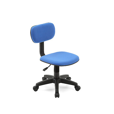 Armless Task Chair Seat Rolly Classic Computer Desk Office Dorm Furniture BLUE