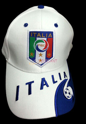 Italia IT World Cup National Football Soccer Sun Hat Snapback Baseball Cap White