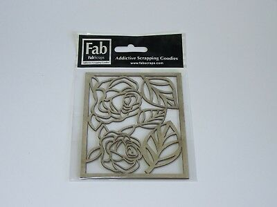 Fab Scraps Chipboard- Roses