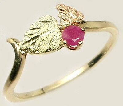 Handcrafted S. Dakota Black Hills 12kt Gold Antique Handcut Russian Ruby