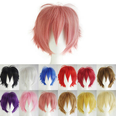 Fashion Short Layered Cosplay Party Wig 12Colors FREE SHIPPING