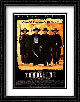 Tombstone 28x36 Double Matted Large Black Ornate Framed Movie Poster Art Print