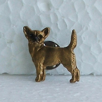 Chihuahua Shorthaired Fawn Lapel Pin Dog Breed Jewellery Handpainted