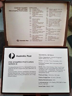 Australia 1981 Series III Boxed Lot New 22 cent Post Cards Lot of 42
