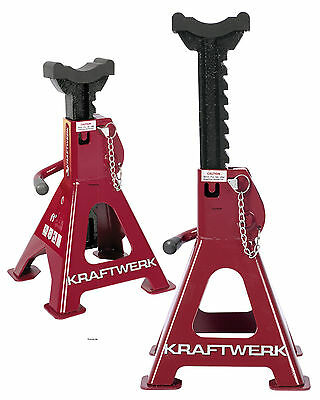 2X Pro Axle Stand Bock Sawhorses Dollies 3T Garage Car Powerful 3979