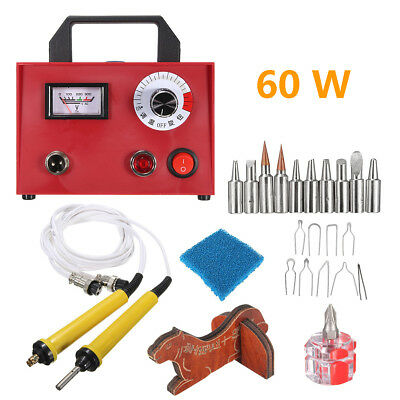 60W 110V Multifunction Pyrography Machine Heating Wire Pen Copper Tip Wood Craft
