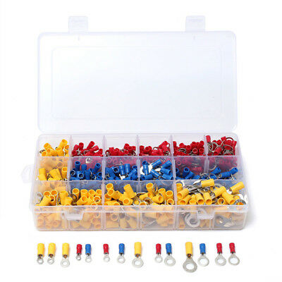 650 Pcs Assorted Ring Insulated Wire Terminals Crimp Connector Set Kit