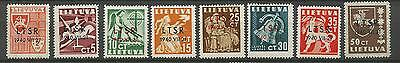 Lithuania Litauen Lietuva 1940 MH Mi 449-456 Sc 2N9-2N16 Soviet Occupation issu