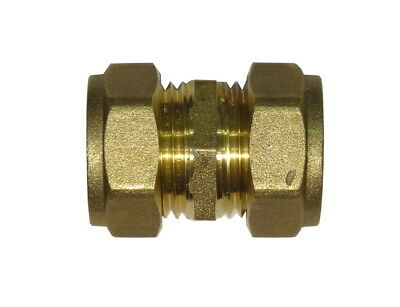 15mm Compression Coupler | Brass Plumbing Fitting For Copper Pipe