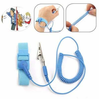 New Anti-static Flexible Coiling Strap Grounding Discharge Bracelet Wrist Band