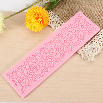 New Silicone Lace Mold Chocolate Fandant Cake Decorating Mould