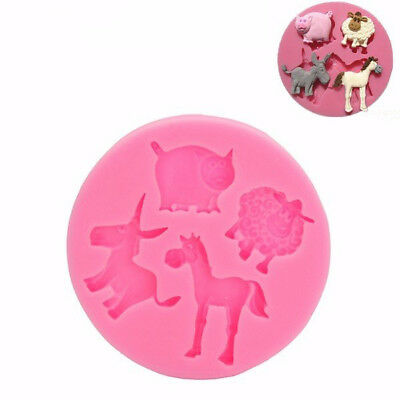 New Mammals Animals Silicone Fondant Mold Chocolate Polymer Clay Mould