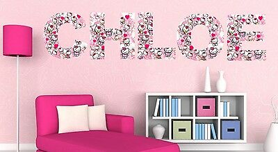 HELLO KITTY letter name wall stickers (3 sizes available & PRE-CUT)