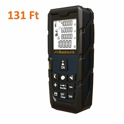 Digital Laser Distance Measure Rangefinder Meter Tape Diastimeter LCD 40m/131ft