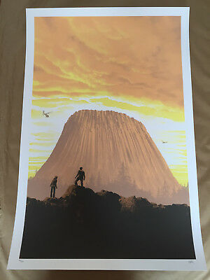 "Mark Englert ""this Is Important"" Close Encounters Screen Print #/200 Gid"
