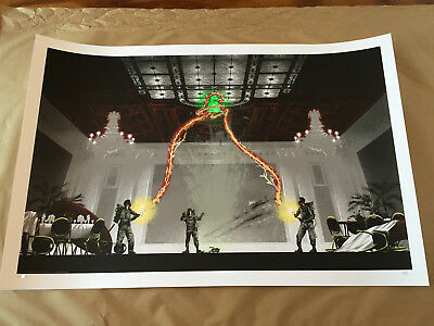 "Mark Englert ""the Flowers Are Still Standing"" Ghostbusters Poster Print Ap #/100"