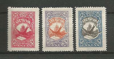 Lithuania Litauen Lietuva 1926 MH Mi 243-245 Sc C37-39 Definitive Airmail issue