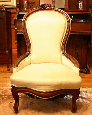 Antique Silk Upholstered Chair
