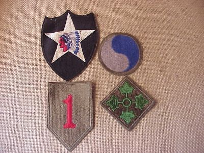 Original Wwii Lot Of 4 D-Day Division Patches