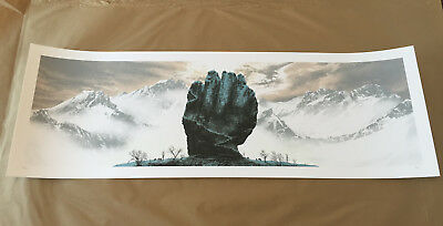 "Mark Englert ""fist Of The First Men"" Game Of Thrones Got Poster Print #/150"