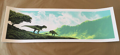 "Mark Englert ""life Will Find A Way"" Jurassic Park Poster Screen Print #/200"