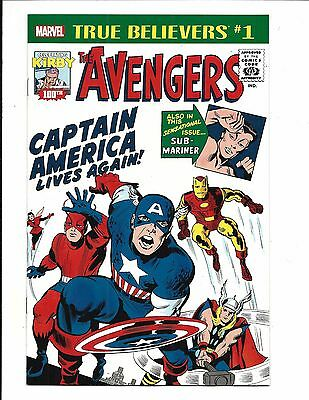 True Believers: Kirby 100Th. - Avengers #4 - Captain America Lives Again, Nm New