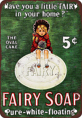 """7"""" x 10"""" Metal Sign - 1880 Fairy Soap - Vintage Look Reproduction"""