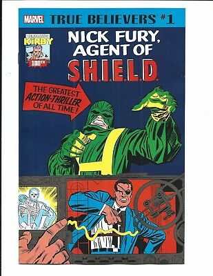 True Believers: Kirby 100Th. - Nick Fury, Agent Of Shield # 1 (Oct 2017), Nm New