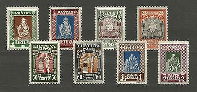 Lithuania Litauen 1933 MH Mi 364-371 Sc 277C-77K IVth Child issue perforated