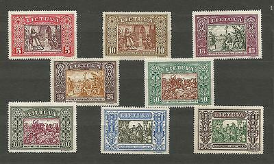 Lithuania Litauen 1932 MLH/MNH Mi 332-339 Sc 264-271 IInd Child issue perforated