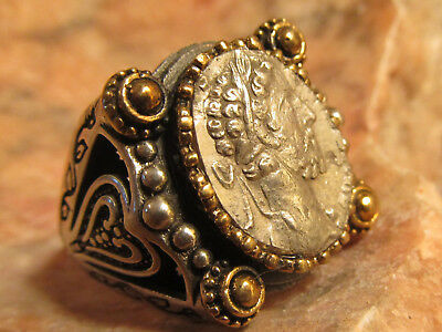 Authentic Ancient Roman Emperor Commodus (movie Gladiator)Mens ring!
