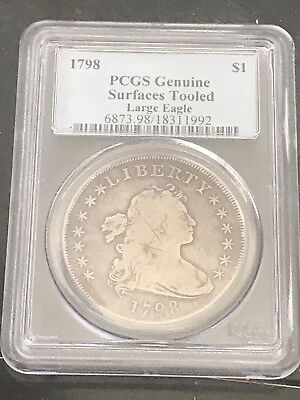 1798 $1 Large Eagle Draped Bust Dollar PCGS Suface Tooled
