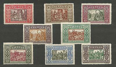 Lithuania Litauen 1932 MNH Mi 332-339 Sc 264-271 IInd Child  issue perforated